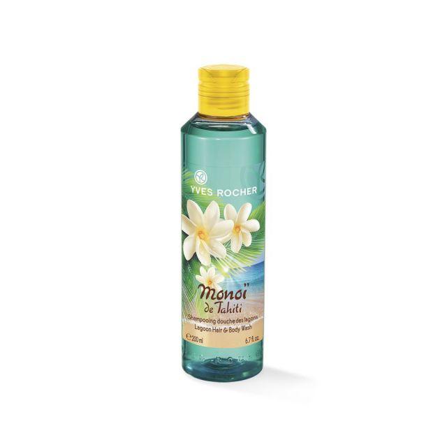 תמונת מוצר - שמפו וג'ל רחצה בניחוח מונוי מסדרת Monoi De Tahiti - מחיר המוצר 22.0000 ש״ח