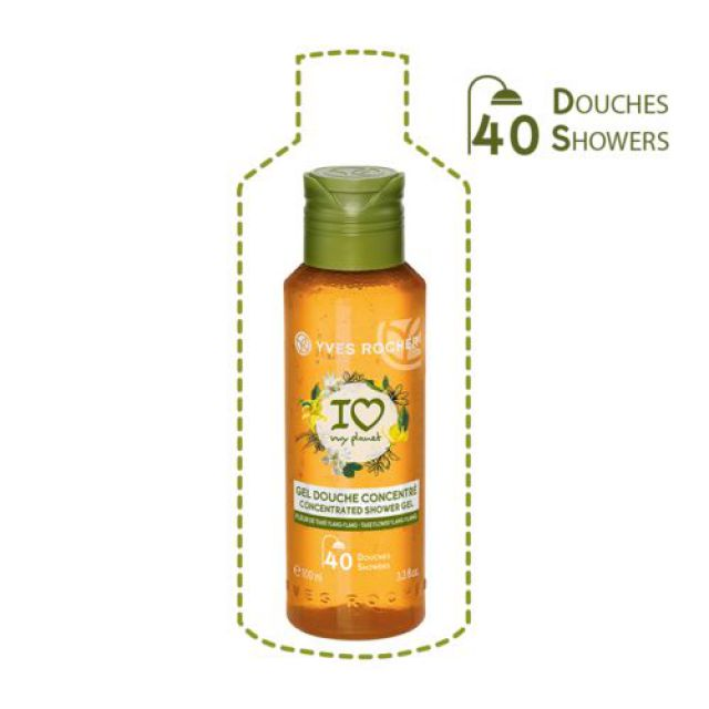 """תמונת מוצר - אקו ג'ל רחצה חסכוני בניחוח טיארה ילנג  100 מ""""ל מסדרת Plaisirs Nature 2 - מחיר המוצר 25.0000 ש״ח"""